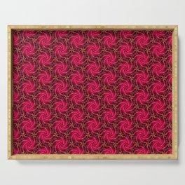 Rosy Swirls Serving Tray