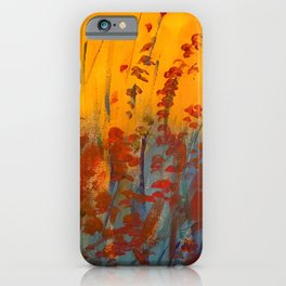 Wildflower Field Acrylic Painting iPhone Case