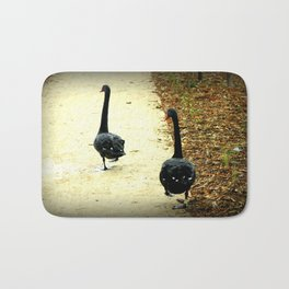 Synchronised Black Swans Bath Mat