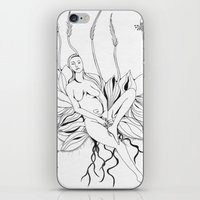 persona iPhone & iPod Skins featuring Planting Persona by tatteredjeannestune