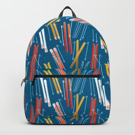 Colorful Ski Pattern Backpack