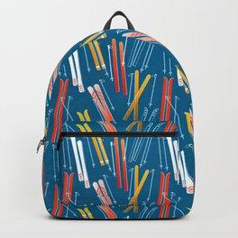 Colorful Ski Pattern Backpack