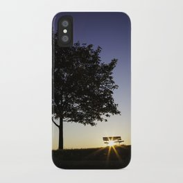 Tree and Bench iPhone Case