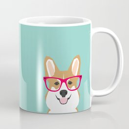 Teagan Glasses Corgi cute puppy welsh corgi gifts for dog lovers and pet owners love corgi puppies Coffee Mug