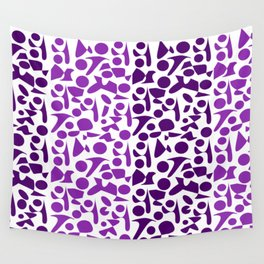 Purpur violet Leopard Pattern Wall Tapestry