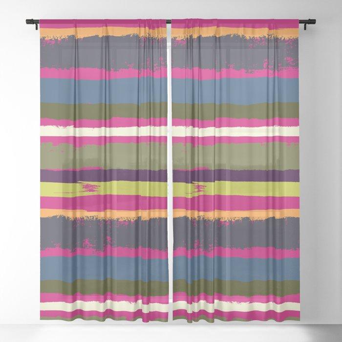 Spurious Rainbow Sheer Curtain