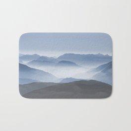 Blue Mountains in Dust - Photoadaption Bath Mat