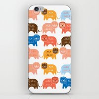 lions iPhone & iPod Skins featuring Lions  by Claire Brown Surface Pattern