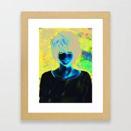 White L - Death Note Framed Art Print