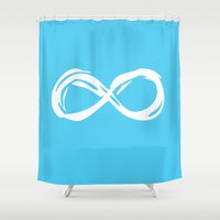 fault in our stars Shower Curtains featuring Fault In Our Stars - Infinity by tangofox