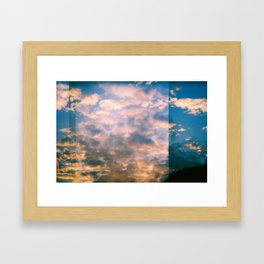 ALMOST SUNSET Framed Art Print