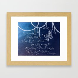 Blue Gardens and Stars Quote Framed Art Print