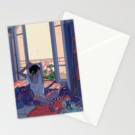 Witch and the Night and Day tiger Stationery Cards