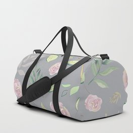 Simple and stylized flowers 7 Duffle Bag