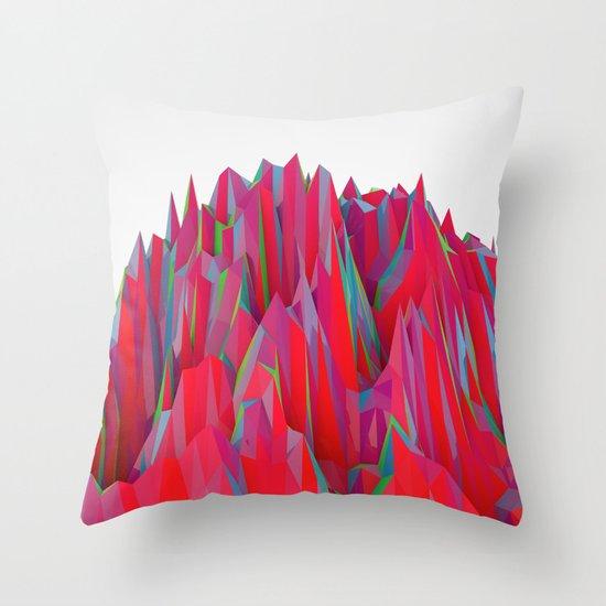 Cristal Mountain  Throw Pillow