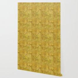 Antique Gold Glitter Wallpaper