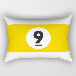 9 ball yellow Rectangular Pillow