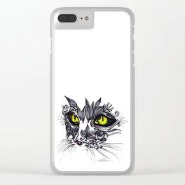 Intense Cat Clear iPhone Case