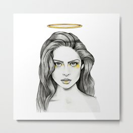 Angel Face Metal Print