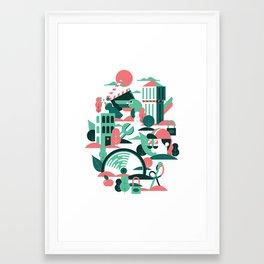 A sunny morning in Milan Framed Art Print