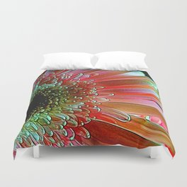 Pink Daisy Sideview Duvet Cover