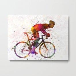 cyclist road bicycle Metal Print