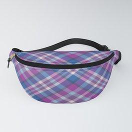Pretty Purple & Blue Plaid Pattern Fanny Pack