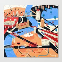 london Canvas Prints featuring London by Patrick O'Leary