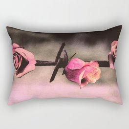 Barbed Wire Roses (Love) Rectangular Pillow