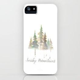 Smoky Mountains Watercolor iPhone Case