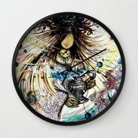 aquarius Wall Clocks featuring Aquarius by OnceUponAWonderland