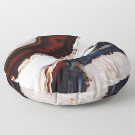 Red meets Blue - Agate Translucent #1 #decor #art #society6 Floor Pillow