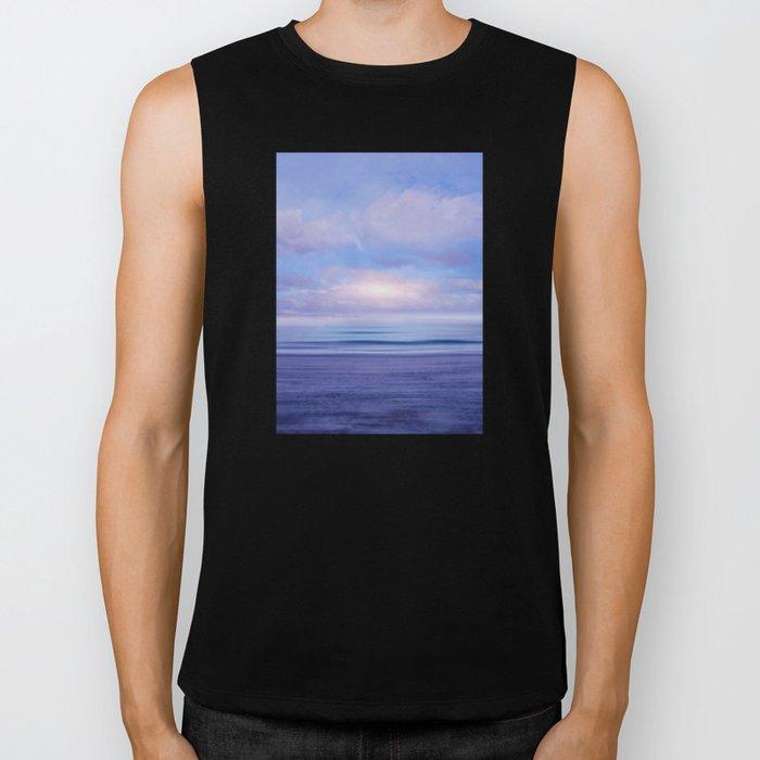 The Sea is Calm 02 Biker Tank