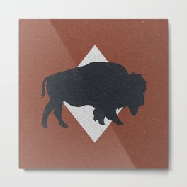 Bison & Blue Metal Print