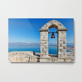 The bay of Nafplio from the castle Palamidi, Greece  Metal Print