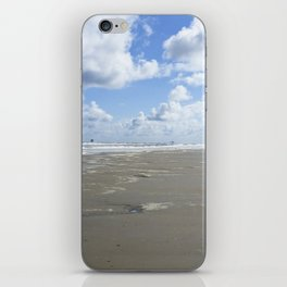 Cloudy seascape panorama iPhone Skin