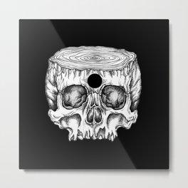 Skull/Wood II Metal Print