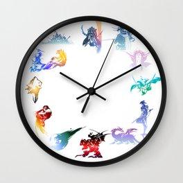 final fantasy logo pattern Wall Clock