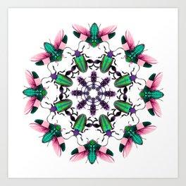 Bug Mandala 2 Art Print