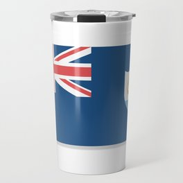 Flag of Anguilla. The slit in the paper with shadows.  Travel Mug