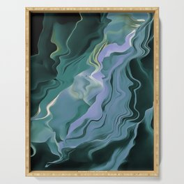 Teal Turbulence Serving Tray