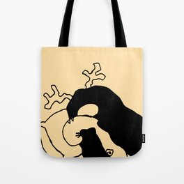 Goodnight, myself and my tail - Honey color Tote Bag
