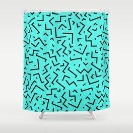 Memphis pattern 32 Shower Curtain