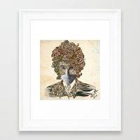 dylan Framed Art Prints featuring Dylan by April Gann