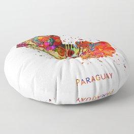 Paraguay Map Floor Pillow