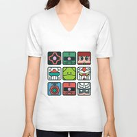 gundam V-neck T-shirts featuring Gundam Icon Design by Kenjken