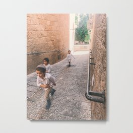 Streets of Jerusalem Metal Print