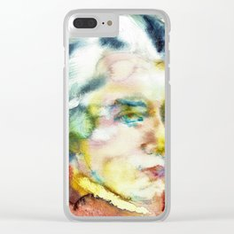 WOLFGANG AMADEUS MOZART - watercolor portrait Clear iPhone Case