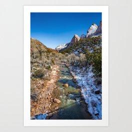 Virgin_River 4764 - Canyon Junction Zion Art Print