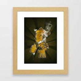 Steam Whistler Framed Art Print